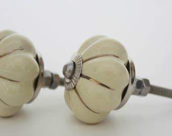 Cream Ceramic Cabinet Knob