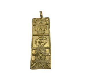 African Brass Pendants - Handmade Jewelry - Lost Wax Pendant - African Tribal Necklace - African Jewelry - Ghanaian Brass Pendant