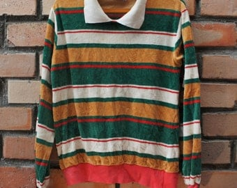 Vintage Collar Long Sleeve Shirt - S