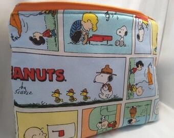 Peanuts clutch, peanuts handbag, peanuts purse ,peanuts fabric bag