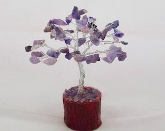 Bonsai Tree - Crystal Bonsai, Amethyst Bonsai, Handmade Gemstone Tree