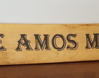 Te Amos Mas- Spanish Sayings and Quotes - Spanish signs - Love you more sign in Spanish- home decor - home and living - Gift - Black Friday