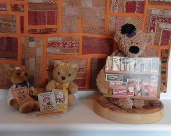 An unusual group of vendor Teddy Bears