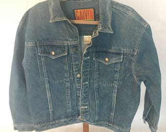 Calvin Klein Mens Denim Jacket Size Large