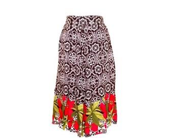 Black & White Patterned Floral Print Ladies Skort/ Culottes