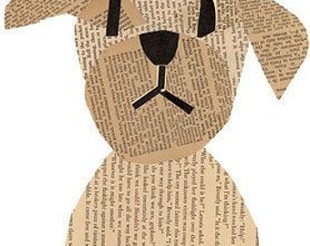 Paper art Dog Picture