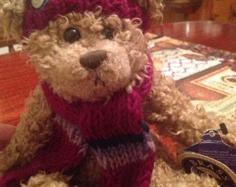 Dooley the brass button bear. boyds bear.