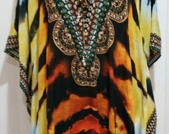 "Gorgeous silk 30"" kaftan top"