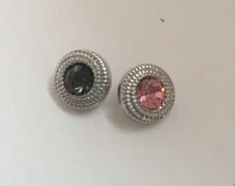 12mm Rhinestone Snap Button Charms