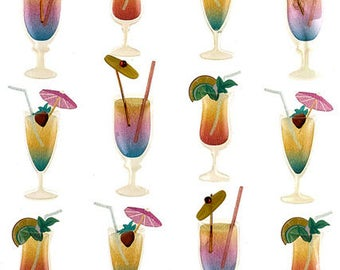 Tropical Drinks Stickers