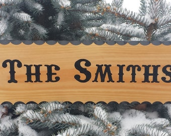 Personalized Wood Sign - Custom Hand Routed Sign - Custom Name Sign - Custom Last Name Sign - Carved Wood Sign - Hand Carved Sign -
