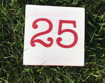 December 25 sign Christmas sign Christmas Day sign. Painted wood sign