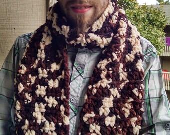 Hot Cocoa Crochet Scarf & Twist Headband Set