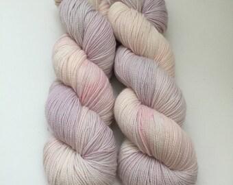 Hand Dyed 80/20 Superwash Merino Nylon Sock Weight Knitting 399yard Hydrangeas Garden