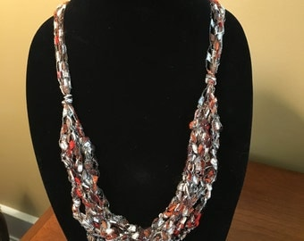 Adjustable ribbon necklace/scarf