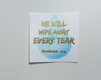 Revelation 21:4 Bible Verse Card