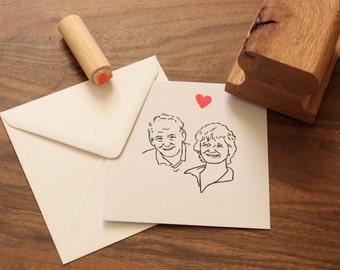 Custom Couples Stamp