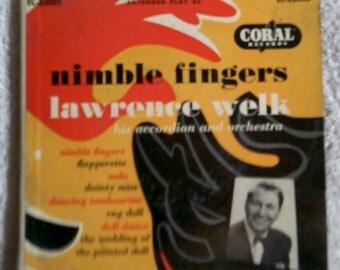 45 rpm vinyl record nimble fingers lawrence welk