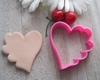 Heart Shaped Cookie Cutter - Large Heart With Row of Small Hearts Cookie Cutter – Cutter – 3D Printed Cutter – Great Fondant Cutter