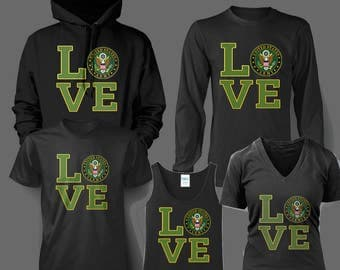 Army LOVE Crest or Symbol t shirt, hoodie, tank top