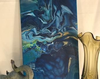 Original pour painting - abstract painting - flow art - home decor - acrylic art - abstract art - wall art - modern art