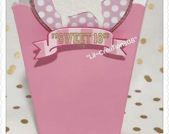 8 Light Pink Popcorn Box