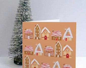 Gingerbread House Card . Gingerbread . Christmas Card . xmas card . Holiday Card