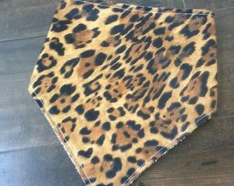 Cheetah print bib