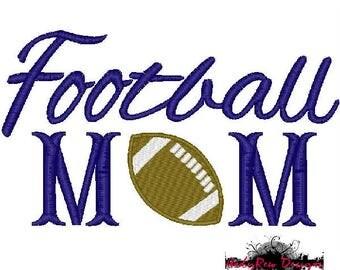 Football Mom machine embroidery design - football fill stitch - 3 sizes