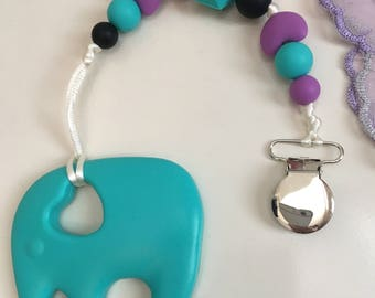 Teething pendant/ chewing toy/ clip on teether/ chewing toy with beads/ baby shower gift/ gift for new mom/ sensory toy/ bpa free beads /