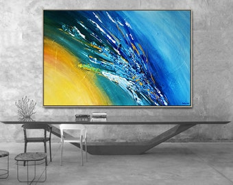 Abstract Art Painting on Canvas Handmade Abstract Art Wall Art Landscape Large Abstract Paintings Canvas Modern Fine Art Contemporary Art