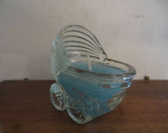 Baby carriage candle holder w/ free ship