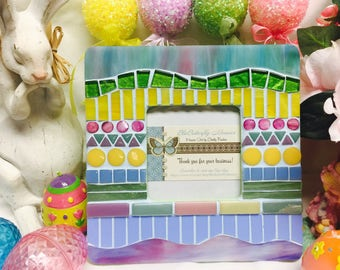 SPRING - Easter Egg Design Mosaic Picture Frame