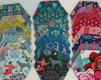 Splendor Pre-Cut Hexagons by Amy Butler