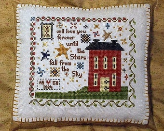 I Will Love You by Annie Beez Folk Art Counted Cross Stitch Pattern/Chart