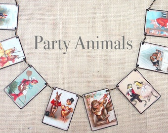 Party Animals Garland--garlands,  banners, bunting, wall decor, nursery decor, kids room decor, baby shower, baby gifts