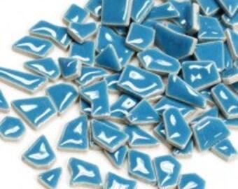 Jigsaw Mosaic Tiles - Thalo Blue 100g