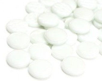 18mm Round Gloss - Snow White Gloss- 50g