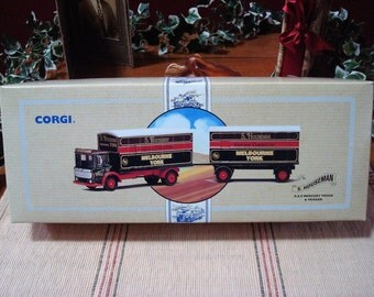 Vintage Corgi Red and Black S. Houseman, A.E.C. Mercury Truck and Trailer, Limited Edition #97892