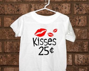 Kissy Shirt, Kisses 25 shirt, Toddler Apparel, Toddler Valentine's Shirt, Kisses, Infant Apparel