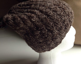 Knit hat/Handspun yarn/Merino-Yak yarn/Handknit beanie/Warm winter beanie