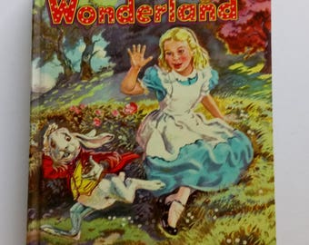 1955 Alice in Wonderland Through the Looking Glass by Lewis Carroll 1955 Hardcover Printed In USA