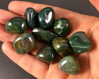 Bloodstone Crystal - Tumbled bloodstone - Bloodstone Tumbled Gemstone - Bloodstone Healing crystal - Tumbled Bloodstone - Healing Crystal
