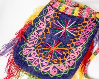 Vintage 1960's Peruvian textile purse/bag/hobo