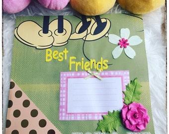 Best Friends Scrapbook, Disney Scrapbook Pages, Premade Scrapbook Pages, Disney Scrapbook, 12x12 Premade Scrapbook Pages, Best Friend Gifts
