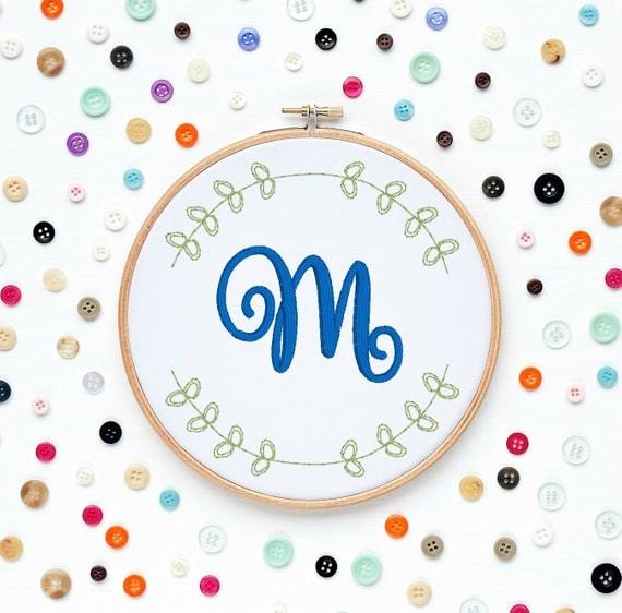Custom Name Initials Monogram Love Boyfriend Girlfriend Machine Embroidery Designs Wall Art Original Digital File Instant Download 4x4