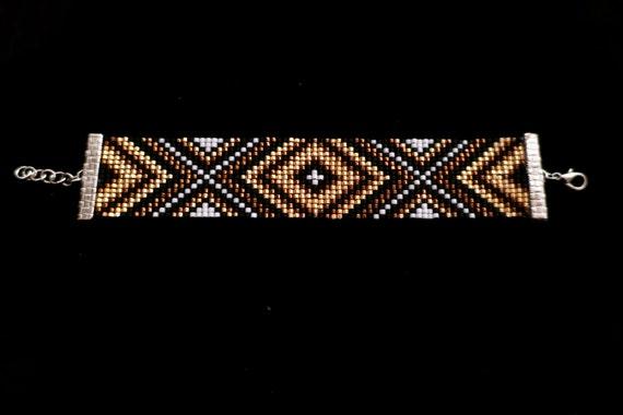 Hand made delica beadloom bracelet