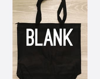 BLANK Zippered Tote