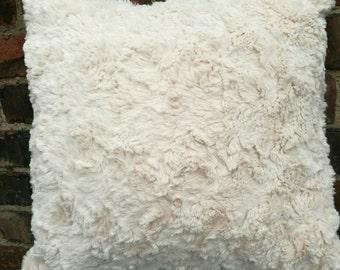 Super soft faux fur fabric cushion