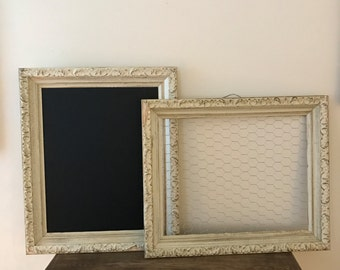 Chalkboard/Chicken Wire Frame Set of Two